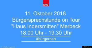 Bürgersprechstunde im Oktober 2018 @ Haus Indersmitten (Pizzeria Vesuvio) | Wegberg | Nordrhein-Westfalen | Deutschland