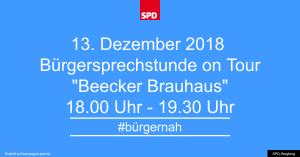 Bürgersprechstunde im Dezember 2018 @ Beecker Brauhaus | Wegberg | Nordrhein-Westfalen | Deutschland